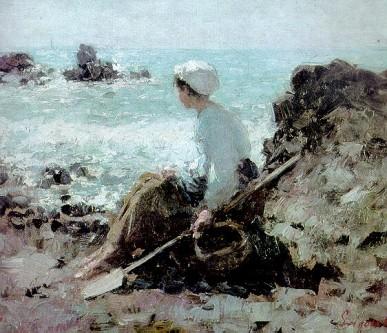 """Nicolae Grigorescu, """"Pescăriţă la Granville"""", 1884 - Colecţia Doctor Dona - foto: ro.wikipedia.org"""