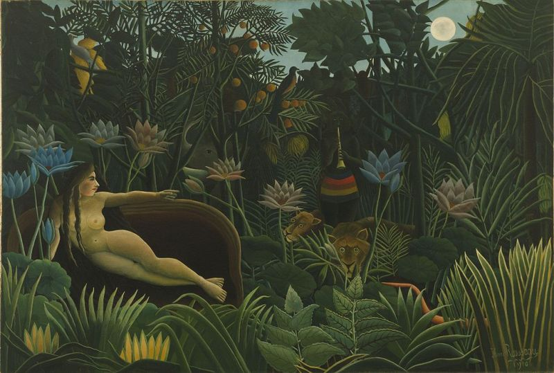 "Henri Rousseau: ""Visul"", 1910 - Museum of Modern Art, New York - foto: ro.wikipedia.org"