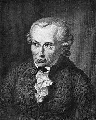 Immanuel Kant (n. 22 aprilie 1724, Königsberg/Prusia Orientală - d. 12 februarie 1804, Königsberg), a fost un filozof german, unul din cei mai mari gânditori din perioada iluminismului în Germania. Kant este socotit unul din cei mai mari filozofi din istoria culturii apusene. Prin fundamentarea idealismului critic, a exercitat o enormă influență asupra dezvoltării filozofiei în timpurile moderne. În special Fichte, Schelling și Hegel și-au dezvoltat sistemele filozofice pornind de la moștenirea lui Kant. Cei mai mulți scriitori și artiști din vremea lui au fost influențați de ideile sale în domeniul esteticii, operele lui Goethe, Schiller sau Kleist neputând fi înțelese fără referința la concepțiile filozofice ale lui Kant - foto: ro.wikipedia.org