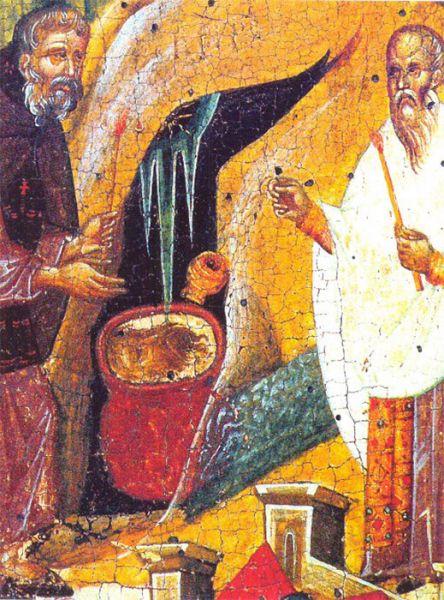 """Sfântul Ioan Botezătorul a fost ultimul dintre prooroci, înainte-mergător și botezător al Domnului nostru Iisus Hristos, """"cel mai mare dintre cei născuți dintre femei"""" (Matei 11,11; Luca 7,28), așa cum îi spune Mântuitorul. Iisus mai afirmă că el nu este nici o """"trestie clătinată de vânt"""", nici un """"om îmbrăcat în haine moi"""" (Matei 11,7-8), indicând astfel caracterul neclintit și auster al profetului. Biserica Ortodoxă are șase zile de prăznuire pentru Sfântul Ioan Botezătorul. În ordine calendaristică, cu începutul anului bisericesc (1 septembrie): 23 septembrie - Zămislirea sfântului Ioan Botezătorul 7 ianuarie - Soborul Sfântului prooroc, Înaintemergătorului și Botezătorului Ioan (a doua zi după Teofanie, 6 ianuarie) 24 februarie - Întâia și a doua aflare a Capului Înaintemergătorului și Botezătorului Ioan 25 mai - A treia aflare a capului Sf. Ioan Botezătorul 24 iunie - Nașterea sfântului Ioan Botezătorul, sărbătoare care în popor poartă numele de Sânziene sau Drăgaică. 29 august - Tăierea capului Înaintemergătorului (pe care Biserica a rânduit-o ca zi de post negru) - in imagine, Întâia și a doua aflare a Capului Sfântului Ioan, Înaintemergătorul și Botezătorul Domnului - foto: doxologia.ro"""