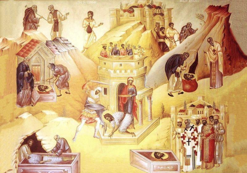 A treia aflare a capului Sfântului Proroc Ioan Botezătorul - foto preluat de pe ziarullumina.ro