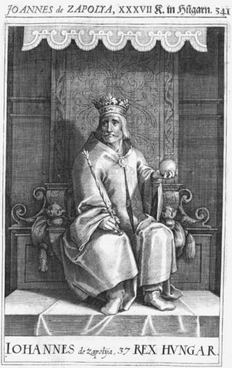 Ioan Zapolya (maghiară Szapolyai János sau Zápolya János) (n. 1487 - d. 22 iulie 1540) a fost voievod de Transilvania între 1526 și 1540 și a ridicat pretenții la tronul Ungariei. El a fost fiul lui Ștefan Szapolyai și al prințesei Hedvig din Cehia. Ioan Zapolya s-a aflat în fruntea unui grup de nobili unguri care, în adunarea nobililor de la Rákos, au susținut ca nici un străin să nu poată fi ales ca rege al Ungariei. Pretendentul străin era Ferdinand de Habsburg. După moartea lui Ioan Zapolya, soția sa Isabella Jagiełło (Izabella în limba maghiară) a ridicat pretenții la tron, între 1556 și 1559 - foto: ro.wikipedia.org