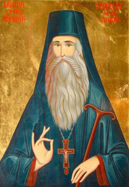 Sfântul Cuvios Irodion de la Lainici a trăit în secolul al XIX-lea, fiind monah la mănăstirea Cernica, apoi stareț vreme de 41 de ani (1854-1900) al Mănăstirii Lainici. Prăznuirea sa în Biserica Ortodoxă se face pe 3 mai - foto preluat de pe basilica.ro