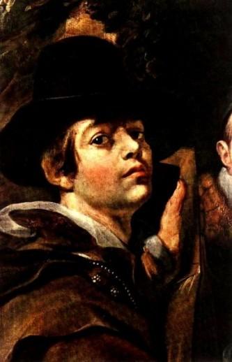 Jacob Jordaens (n. 19 mai 1593 la Anvers - d. 18 octombrie 1678 la Anvers) a fost, alături de Peter Paul Rubens (căruia i-a fost discipol) și Anthony van Dyck, unul dintre marii pictori ai barocului flamand. A fost un exponent de seamă al Școlii de pictură de la Anvers și a jucat un rol important în evoluția picturii flamande a secolului al XVII-lea. Precum majoritatea reprezentanților școlii de pictură menționate, a reprezentat diverse personaje biblice, în special apostoli sau sfinți (Jordaens Self-Portrait among Parents Brothers and Sisters detail) - foto: ro.wikipedia.org