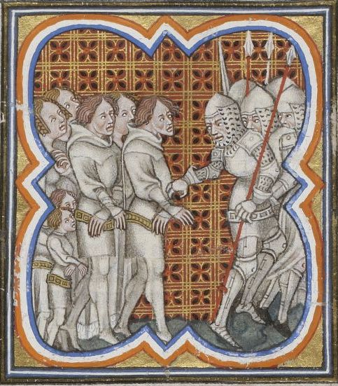 Prisoners in an illuminated manuscript by Jean Froissart - foto: en.wikipedia.org