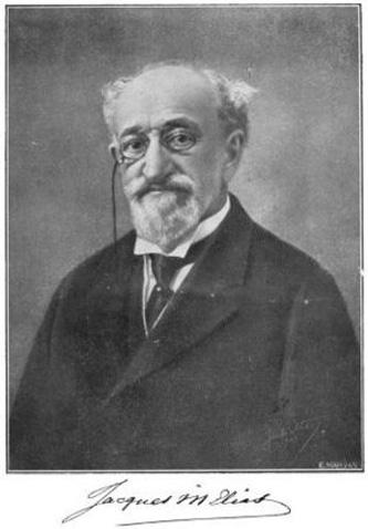 Jacques Menachem Elias (n. 1844, București - d. 14 mai 1923, București) a fost un industriaș, bancher, moșier și filantrop evreu, cetățean român, ales post-mortem (1993) membru al Academiei Române - foto: ro.wikipedia.org