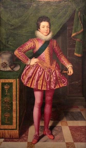Ludovic al XIII-lea (n. 27 septembrie 1601 - d. 14 mai 1643, Saint-Germain-en-Laye), supranumit cel Drept (în franceză Le Juste), fiul lui Henric al IV-lea al Franței, a domnit ca rege al Franței și Navarei între anii 1610 și 1643. Imaginea regelui este inseparabilă de cea a primului său ministru cardinalul Richelieu - in imagine, Ludovic al XIII-lea pictat de Frans Pourbus cel Tânăr, Palazzo Pitti, 1611 - foto: ro.wikipedia.org