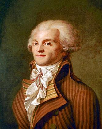 """Maximilien François Marie Isidore de Robespierre (n. 6 mai 1758 – d. 28 iulie 1794); (După Calendarul Republican data decesului este 10 thermidor an II). A fost executat prin ghilotinare în Piața Revoluției (place de la Révolution, astăzi place de la Concorde); cunoscut contemporanilor săi ca """"Incoruptibilul"""", este una dintre cele mai cunoscute figuri ale revoluției franceze. A fost unul din discipolii lui Jean-Jacques Rousseau - foto - ro.wikipedia.org"""