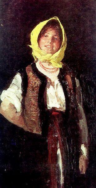 """Nicolae Grigorescu, """"Ţărancă voioasă"""", 1894 - Galeria Naţională, Bucureşti - foto: ro.wikipedia.org"""
