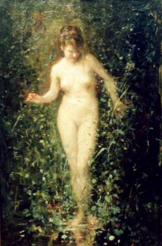 "Nicolae Grigorescu, ""Entering The Bath"" - foto: ro.wikipedia.org"