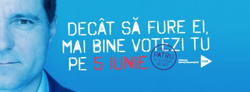 Votează pe 5 iunie Nicușor Dan și candidații USB la Primărie! - foto: facebook.com