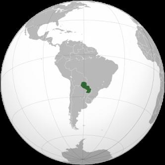"""Paraguay, oficial Republica Paraguay (Spaniolă: República del Paraguay, pron. IPA [re'puβlika del para'ɣwaj], limba guarani: Tetä Paraguáype), este o țară fără ieșire la mare în America de Sud. Este așezată pe malul râului Paraguay, având frontieră cu Argentina spre sud și sud-vest, cu Brazilia spre nord-est și cu Bolivia spre nord-vest. Numele țării semnifică """"apa ce merge spre apă"""", derivat din cuvintele pará (""""ocean""""), gua (""""spre""""), și y (""""apa"""") din limba amerindiană guaraní. Expresia în l. guaraní adesea se referă exclusiv la capitala Asunción, în spaniolă se referă la întreaga țară - foto: ro.wikipedia.org"""