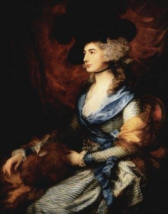 Sarah Siddons (5 iulie 1755 – 8 iunie 1831) a fost o actriță britanică, cea mai cunoscută tragediană a secolului XVIII. Ea a fost sora mai în vârstă a lui John Philip Kemble, Charles Kemble, Stephen Kemble, Ann Hatton și Elizabeth Whitlock. Ea a fost faimoasă pentru reprezentarea personajului Shakespearean: Lady Macbeth, un personaj pe care l-a modelat transformându-l în ceva original - in imagine, Mrs. Sarah Siddons, de Thomas Gainsborough (1785) - foto: ro.wikipedia.org