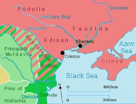 Extinderea imperiului rus la Tratatul de la București din 1812 -  foto: ro.wikipedia.org