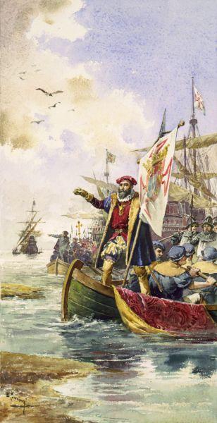 "Sosirea lui ""da Gama"" în Calicut - foto: ro.wikipedia.org"