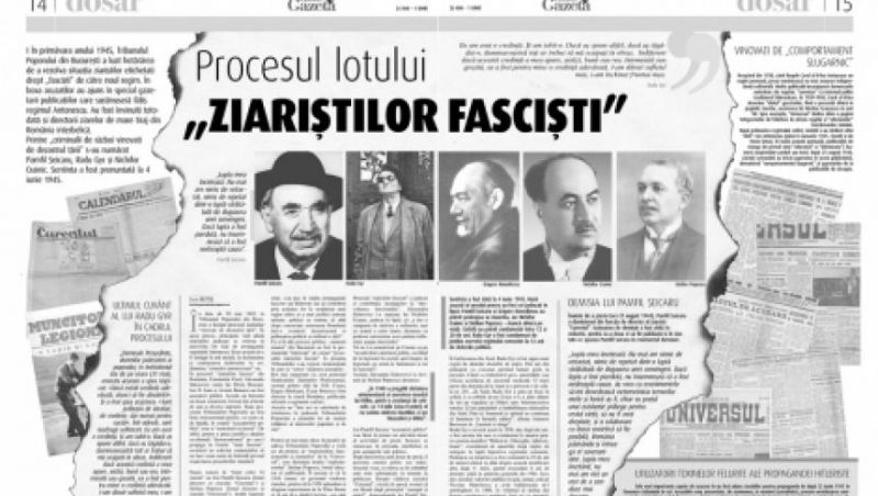 """30 mai 1945: În România, începe procesul ziariștilor acuzati că s-au pus """"în slujba propagandei fasciste"""" și fîcuți """"criminali de război și vinovați de dezastrul țării"""" - foto: historia.ro"""