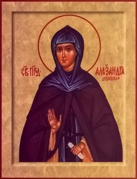 Sfânta Alexandra Schimonahia, Stareța și Întemeietoarea Mănăstirii Diveevo. Prăznuirea sa de către Biserica Ortodoxă se face la data de 13 iunie - foto: doxologia.ro