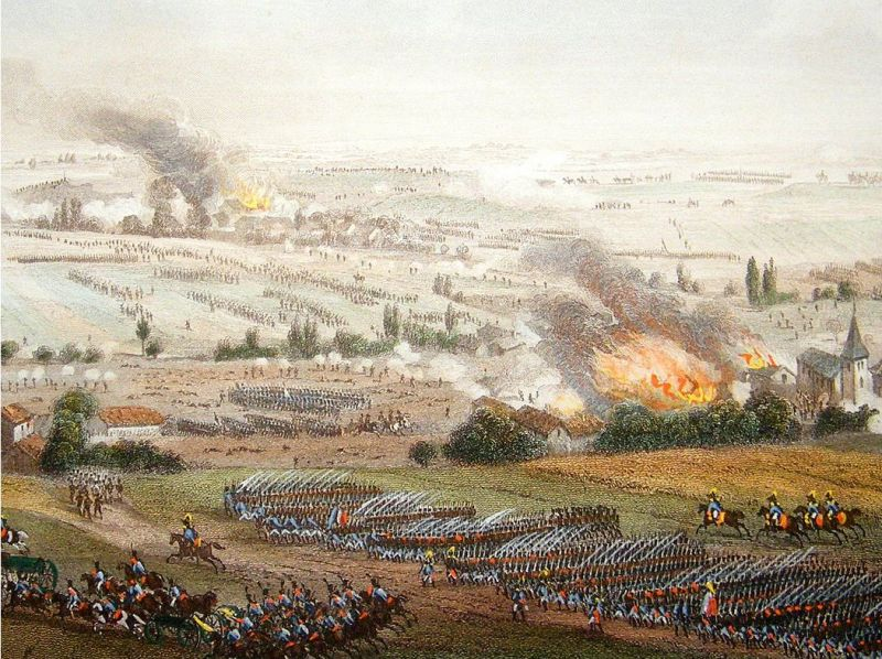 """Bătălia de la Ligny"" (16 iunie 1815) - Parte a Campaniei de la Waterloo - foto: ro.wikipedia.org"