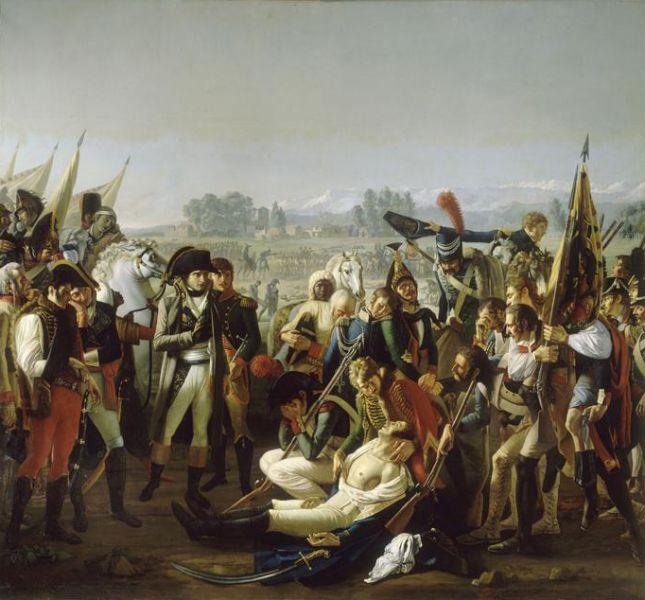 Bătălia de la Marengo (14 iunie 1800 -  Napoleon is presented the body of Desaix) - foto: en.wikipedia.org