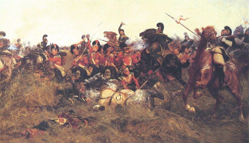 """""""Bătălia de la Quatre Bras"""" - Parte a Campania de la Waterloo (16 iunie 1815), de James Wollen - foto: ro.wikipedia.org"""