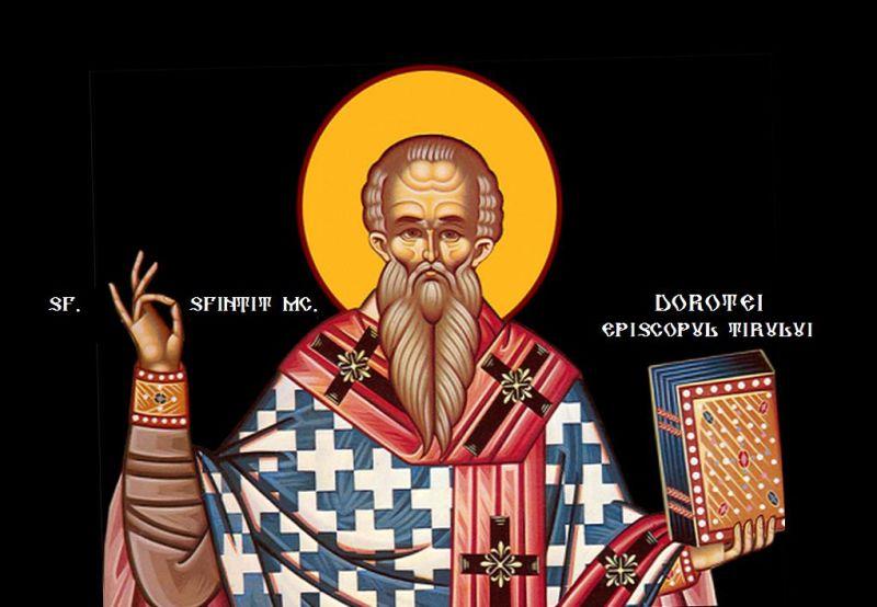 Sf. Sfințit Mc. Dorotei, episcopul Tirului (cca. 255 – 362) - foto preluat de pe ziarullumina.ro