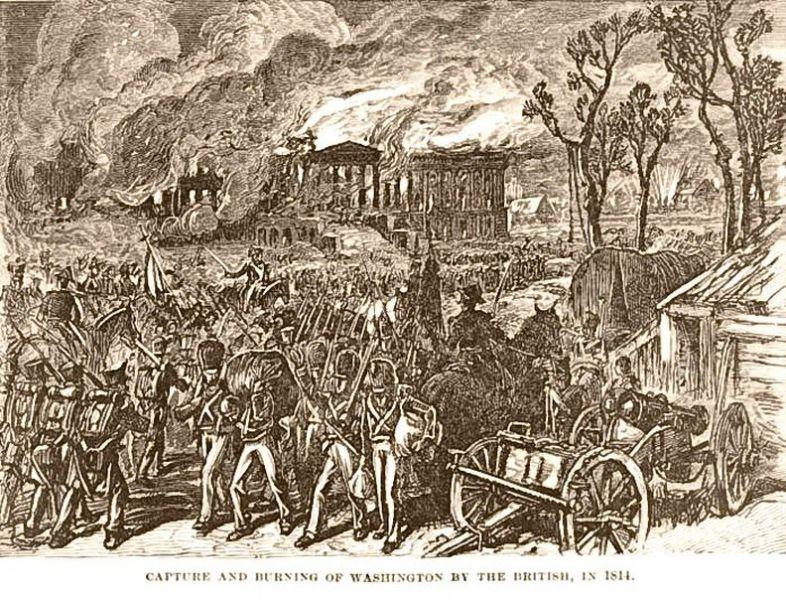 Incendierea Washingtonului, August 1814 - foto: ro.wikipedia.org