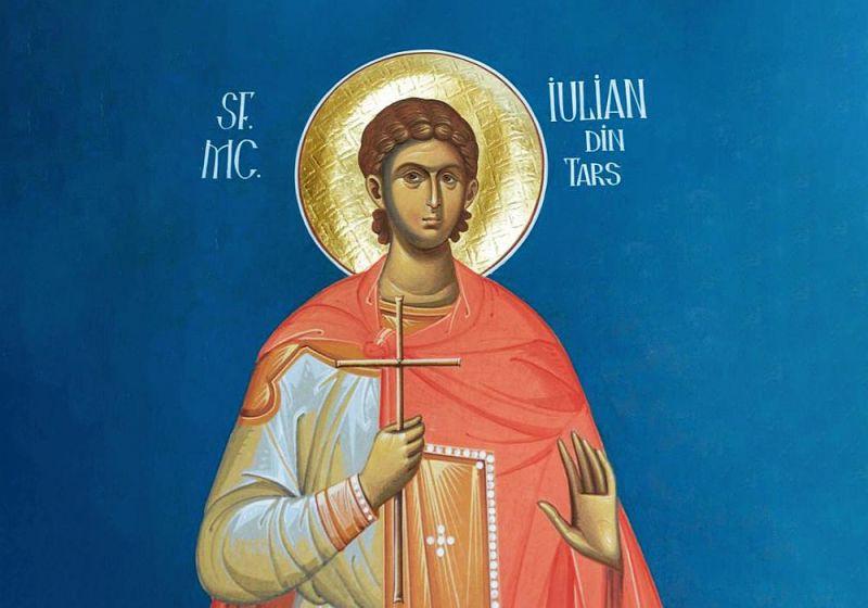 Sfântul Mucenic Iulian din Tars († 303) - foto preluat de pe ziarullumina.ro