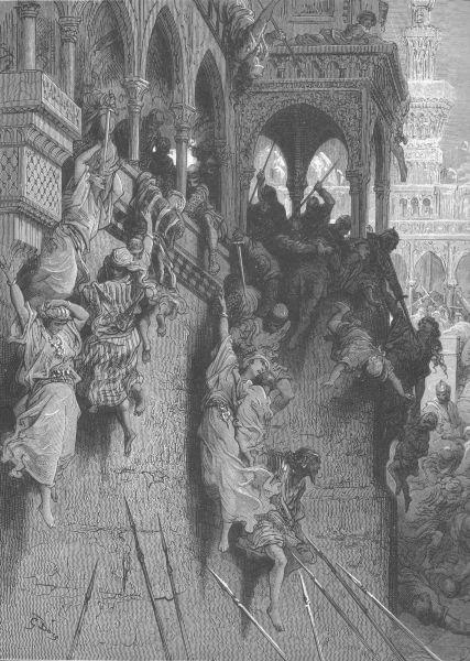 """Masacrul din Antiohia"" de Gustave Doré - foto: ro.wikipedia.org"
