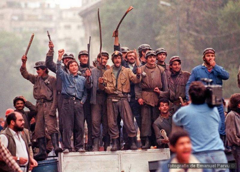 Mineri la Bucuresti (13 - 15 iunie-1990) - foto: Emanuel-Parvu