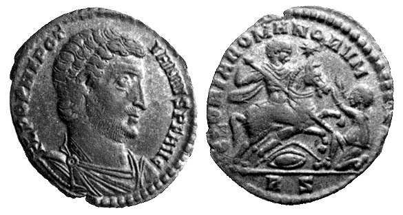 Julius Nepotianus (died June 30, 350) -  Nepotianus on a coin bearing his claimed title of Augustus - foto: en.wikipedia.org