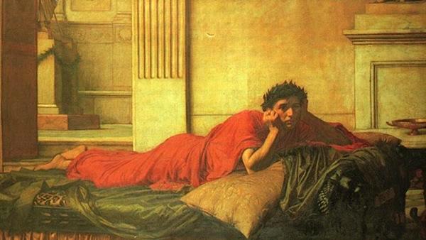 Remușcările împăratului Nero după moartea mamei sale - de John William Waterhouse - foto: ro.wikipedia.org
