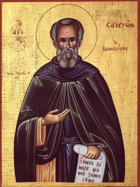 Sfântul Cuvios Samson, primitorul de străini. Prăznuirea sa de către Biserica Ortodoxă se face la data de 27 iunie - foto: doxologia.ro