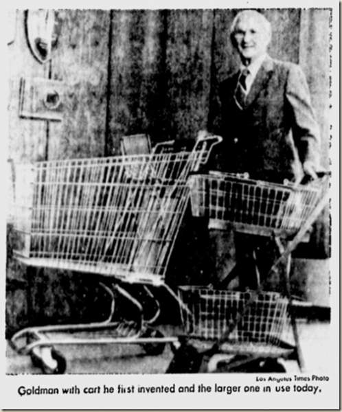 Sylvan Nathan Goldman (November 15, 1898 – November 25, 1984) was an American businessman and inventor of the shopping cart, which had a pair of large wire baskets connected by tubular metal arms with four wheels - foto: alchetron.com
