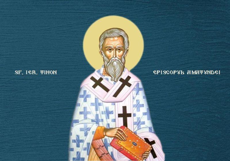 Sfântul Tihon, Episcopul Amatundei († 424) Prăznuirea sa de către Biserica Ortodoxă se face la data de 16 iunie - foto preluat de pe ziarullumina.ro
