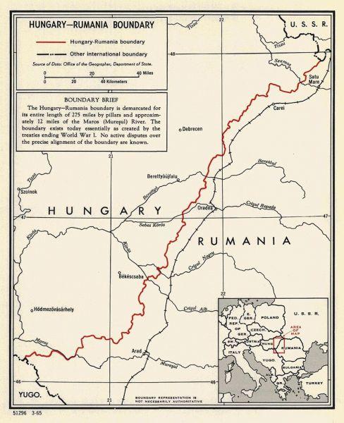 Trianon - Frontiera româno-maghiară stabilită în tratat - foto - ro.wikipedia.org