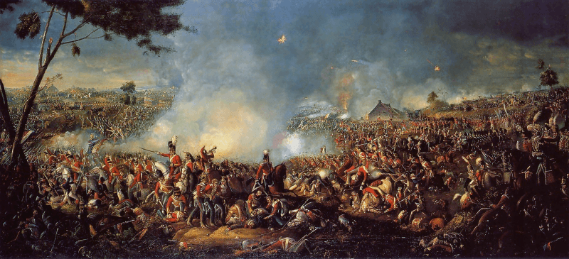 """Bătălia de la Waterloo"" (18 iunie 1815) de William Sadler - foto: en.wikipedia.org"