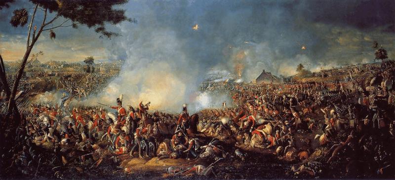 """Bătălia de la Waterloo"" (18 iunie 1815) de William Sadler - foto: en.wikipedia.org"