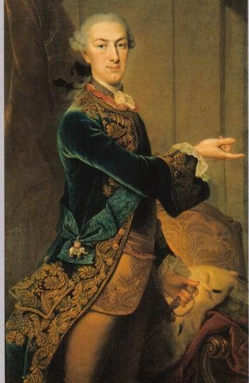 Wilhelm I, Elector de Hesse (3 iunie 1743 – 27 februarie 1821) a fost fiul lui Frederic al II-lea, Landgraf de Hesse-Cassel şi a Prinţesei Mary a Marii Britanii - Portret al Electorului purtând însemnele Ordinului Elefantului - foto: ro.wikipedia.org