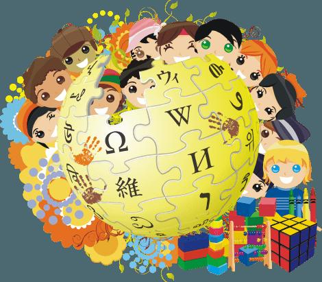 Wikipedia logo for Children's Day - foto preluat de pe en.wikipedia.org