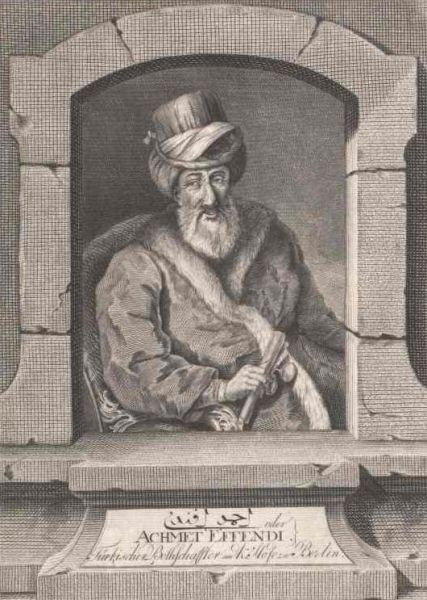 Ahmed Resmî Efendi (1700 - 1783), chief Ottoman negotiator of the Treaty of Küçük Kaynarca - foto preluat de pe en.wikipedia.org