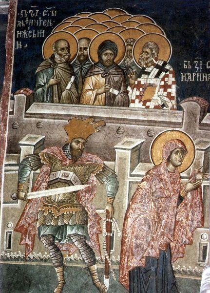 Sfântul Sfinţit Mucenic Atinoghen cu cei 10 ucenici ai săi. Prăznuirea lor de către Biserica Ortodoxă se face la data de 16 iulie - foto: doxologia.ro