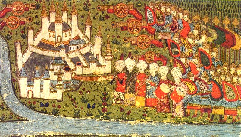 Asediul Belgradului - Bătălia de la Belgrad (4 - 22 iulie 1456) - Miniatură otomană a asediului din Belgrad 1456 - foto preluat de pe en.wikipedia.org