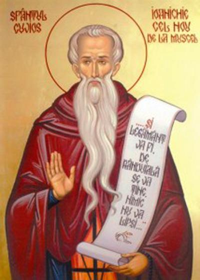 Sfântul Cuvios Ioanichie cel Nou de la Muscel (Argeș) Prăznuirea sa de către Biserica Ortodoxă se face la data de 26 iulie - foto: doxologia.ro