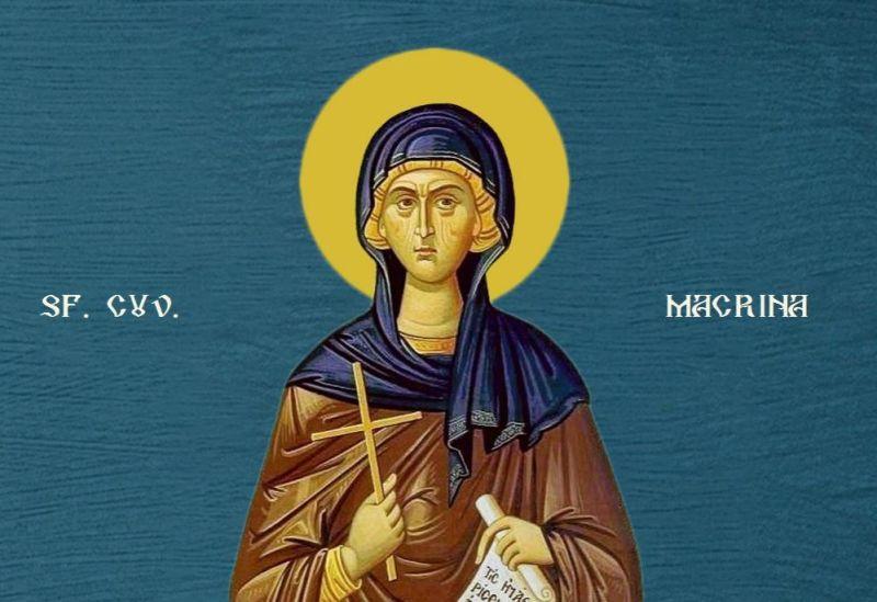 Sfânta Cuvioasă Macrina, sora Sfântului Vasile cel Mare (c. 330 - 379) - foto preluat de pe ziarullumina.ro