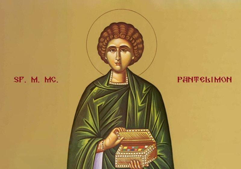 Sfântul Mare Mucenic și Tămăduitor Pantelimon (275 - 303) - foto preluat de pe ziarullumina.ro