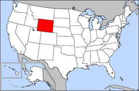 Harta Statelor Unite cu statul Wyoming indicat - foto: ro.wikipedia.org