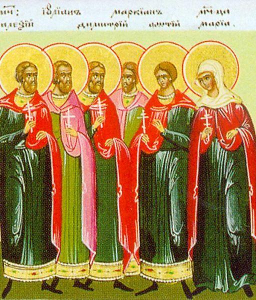 Sfinții 10 Mucenici Mărturisitori pentru icoana lui Hristos. Prăznuirea lor de către Biserica Ortodoxă se face la data de 9 august - foto: doxologia.ro