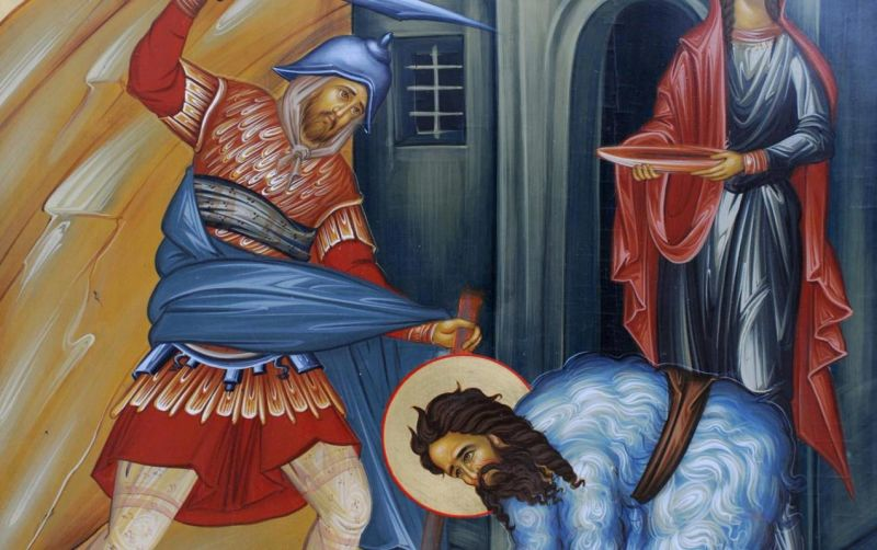 Tăierea capului Sfântului Proroc Ioan Botezătorul - foto preluat de pe ziarullumina.ro