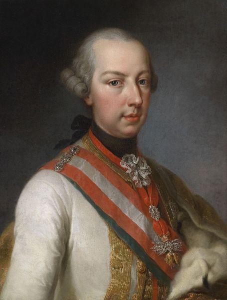Iosif al II-lea, născut Joseph Benedikt August Johann Anton Michael Adam în Casa de Habsburg-Lothringen, (n. 13 martie 1741, Viena - d. 20 februarie 1790, Viena) împărat al Sfântului Imperiu Roman între anii 1765-1790. A fost, de asemenea, rege al Ungariei, Boemiei - foto: ro.wikipedia.org