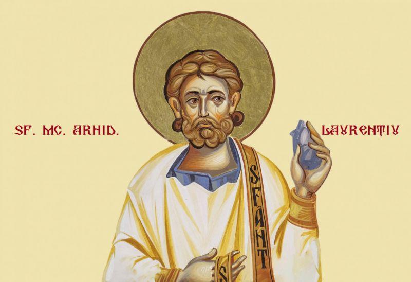 Sf. Mc. Laurenţiu arhidiaconul (225 - 258) - foto preluat de pe ziarullumina.ro